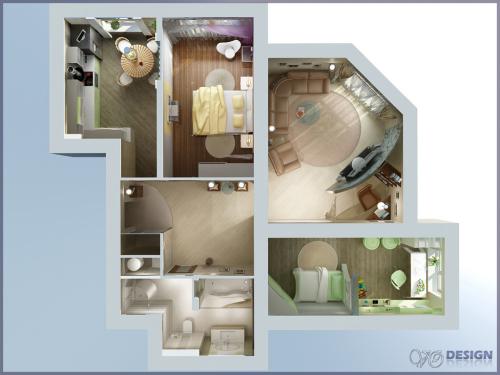 дизайн трехкомнатной панельной квартиры фото